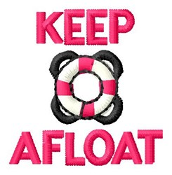 Afloat With LifeJacket embroidery design