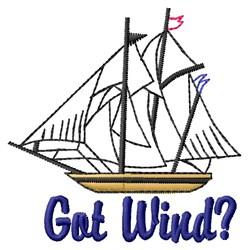 Got Wind? embroidery design