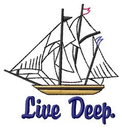 Deep Ship embroidery design