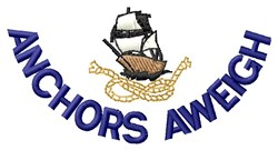 Anchor & Boat embroidery design