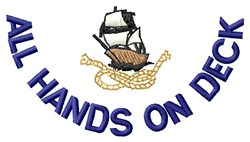 All Hands embroidery design