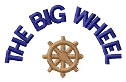 Big Wheel embroidery design