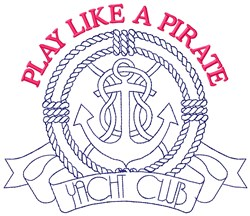 Pirate Anchor embroidery design