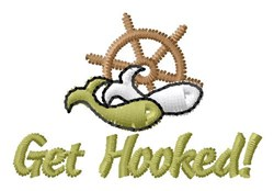 Hooked Paddle Wheel embroidery design