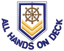 All Hands On Wheel embroidery design