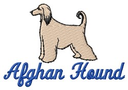 Afghan Hound embroidery design