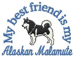 Malamute Friend embroidery design
