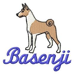 Basenji embroidery design