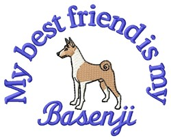 Basenji Friend embroidery design