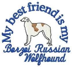 Borzoi Friend embroidery design