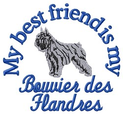Bouvier Friend embroidery design