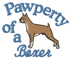 Boxer Pawperty embroidery design