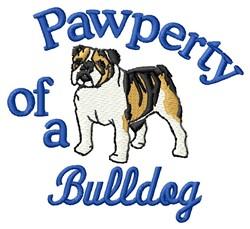 Bulldog Pawperty embroidery design