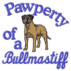 Bullmasatiff Pawperty embroidery design