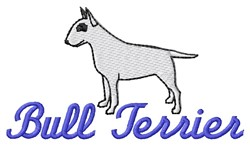 Bull Terrier embroidery design
