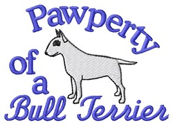 Bull Terrier Pawperty embroidery design