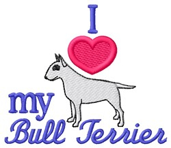 Love Bull Terrier embroidery design
