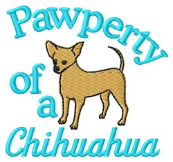 Chihuahua Pawperty embroidery design