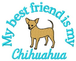 Chihuahua Friend embroidery design