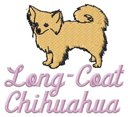 Long-Coat Chihuahua embroidery design