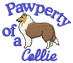Collie Pawperty embroidery design