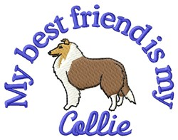 Collie Friend embroidery design