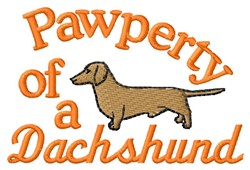 Dachshund Pawperty embroidery design