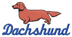 Dachshund embroidery design