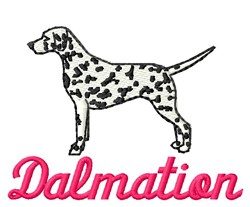 Dalmatian embroidery design