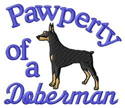 Doberman Pawperty embroidery design