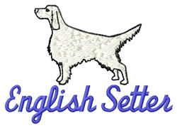 English Setter embroidery design