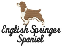 English Springer embroidery design