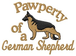 German Shepherd Pawperty embroidery design
