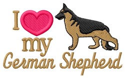 Love My Shepherd embroidery design