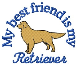 Retriever Friend embroidery design