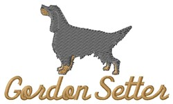 Gordon Setter embroidery design
