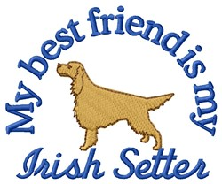 Irish Setter Friend embroidery design