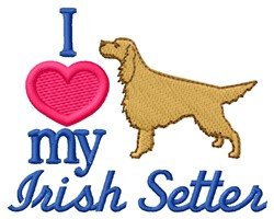 Love Irish Setter embroidery design
