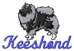 Keeshond embroidery design