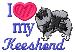 Love My Keeshond embroidery design
