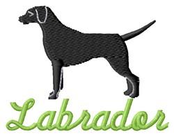 Labrador embroidery design