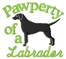 Labrador Pawperty embroidery design