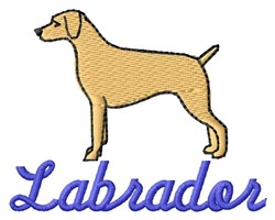 Labrador embroidery design