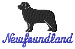 Newfoundland embroidery design