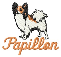 Papillon embroidery design