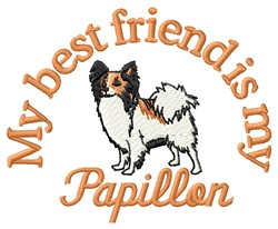 Papillon Friend embroidery design