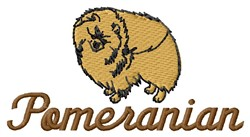 Pomeranian embroidery design