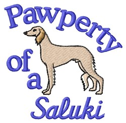 Saluki Pawperty embroidery design