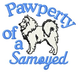 Samoyed Pawperty embroidery design