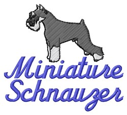 Miniature Schnauzer embroidery design